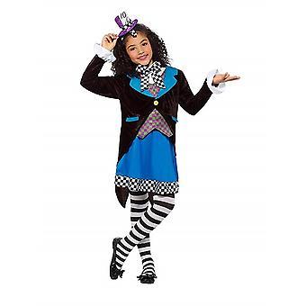 Verrückte Huttmacherin Kinderkostüm Karneval Deluxe Little Miss Hatter Costume