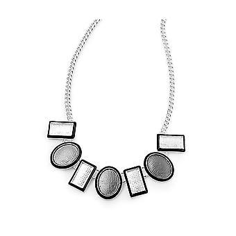 Fable Womens/ladies Geo Enamel Necklace