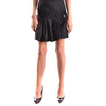 Isola Marras Ezbc255007 Women's Black Cotton Skirt