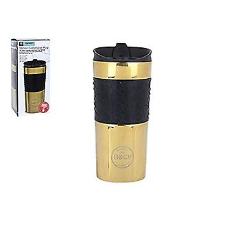 Summit B & Co Hamelin riutilizzabili Leak Proof lucido tazza termica 380ml oro
