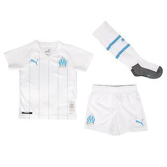 2019-2020 Olympique Marseille Home Little Boys Mini Kit
