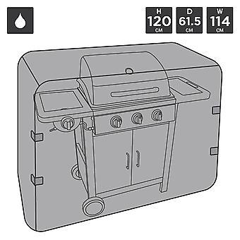 Charles Bentley Universal wasserdicht Premium Gas Kohle BBQ Abdeckung Medium 3-4 Brenner - Schwarz