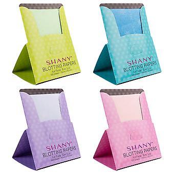 SHANY make-up blotting papers: 4 packs van 100 olie absorberende papier vellen voor gezicht-400 vellen
