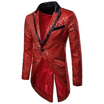 Allthemen miesten Tuxedo mekko Sequin suoritus kyky juhla puku takki