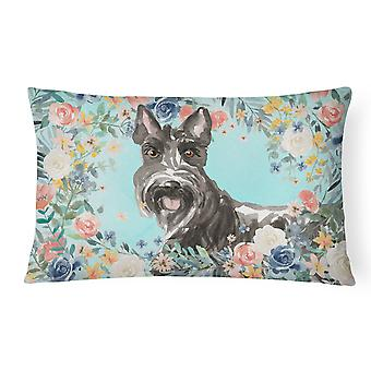 Scottish Terrier Canvas Fabric Decorative Pillow