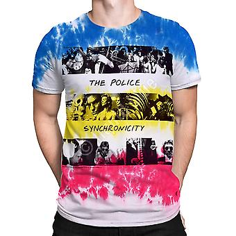 Liquid blue - the police synchronicity - short sleeve tie-dyed t-shirt .