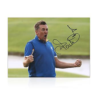 Ian Poulter signiertes Photo: Rydercup 2018