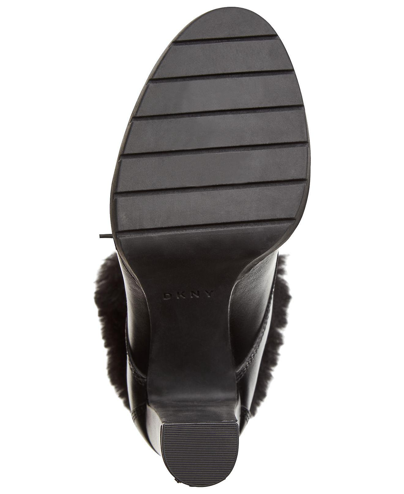 DKNY Kobiety Darcy koronki zamknięte toe Mid-Calf Cold Weather Boots QyPQ3