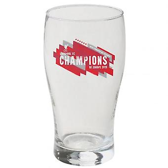 Liverpool Champions of Europe Tulip Pint Glass