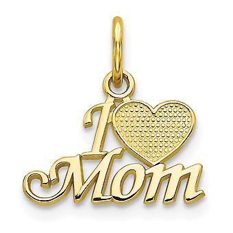 10 k Yellow Gold Solid polerad mamma Charm -.6 gram