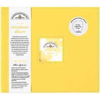 """Doodlebug Storybook D-Ring Albumi 12""""X12"""" - Bumblebee"""