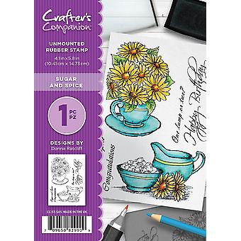 Crafter's Companion A6 Rubber Stamp - Sugar and Spice