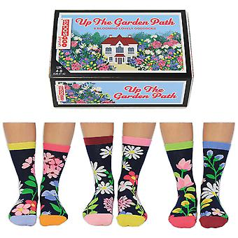 United Oddsocks Women's Up The Garden Path Socks Gift Set