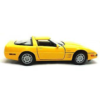 MotorMax Motor Max 1993 Corvette ZR 1  Yellow - 1:24