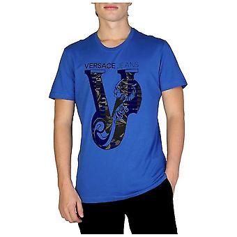 Versace Jeans - Clothing - T-Shirts - B3GSB75C_36591_253 - Men - Blue - M