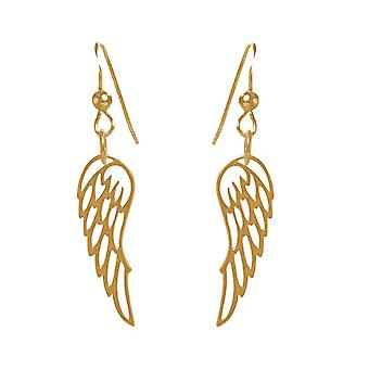 GEMSHINE kvinders øreringe vinge vinger engel i 925 sølv, forgyldt eller Rose