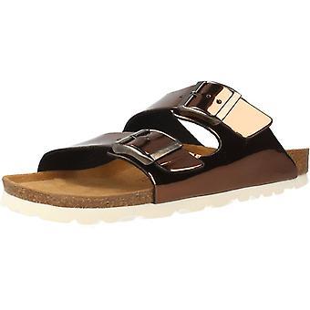 Gele winkel sandalen Ahawai kleur brons