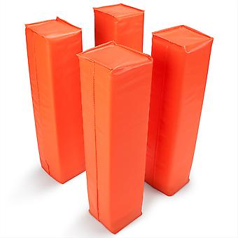 Set of 4 Orange Anchorless Football Pylons