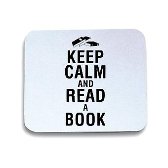 Tappetino mouse pad bianco wtc0128 keep calm and read a book