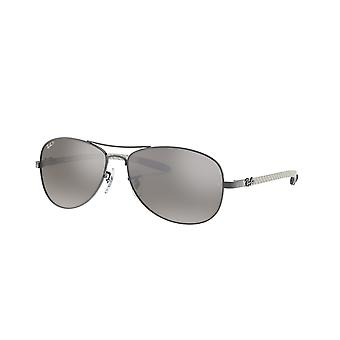 Ray-Ban RB8301 004/N8 Polarised Crystal Grey Mirror Sunglasses