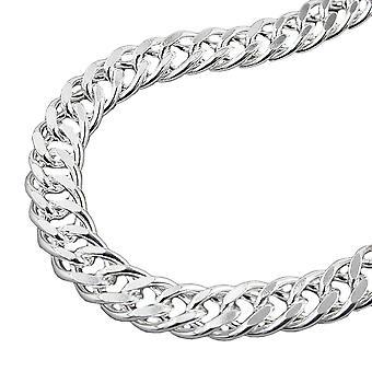 Bracelet 925 réservoir double 6mm argent 19 cm