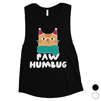 Paw Humbug Funny Christmas Womens Muscle Top Gift Idea