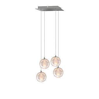 Aura 4 Mini Pendant Lighting Nickel
