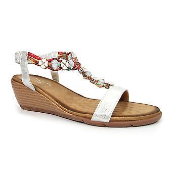 Lunar Alna pärlstav ' T ' bar kil sandal