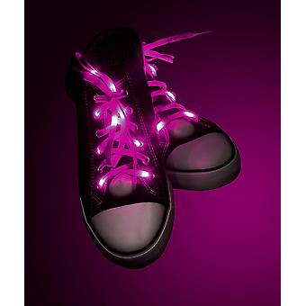 Light Up laces pink pink, made of polyester, battery operated.