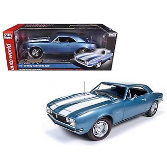 1967 Chevrolet Camaro n. 28 50o Anniversario Nantucket Blue Limited Edition a 1002pcs 1/18 Diecast Model Car di Autoworld