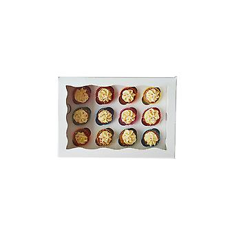 Culpitt wit 12 hole mini cupcake doos