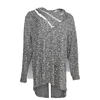 Estilo & Co. Women's Plus Top Cowl Neck Long Sleeve Gray