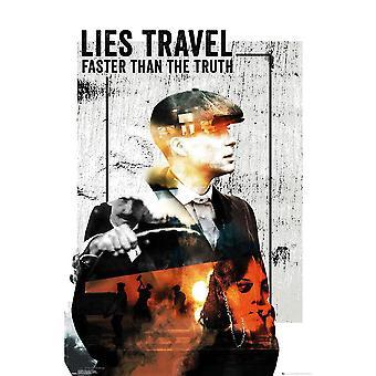Peaky Blinders Lies Travel Poster
