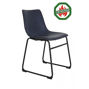 Light & Living Dining Chair 55x45x79cm Jeddo Fr Dunkelblau