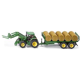 Siku 3862 John Deere Traktor mit Runder Bailer 1:32