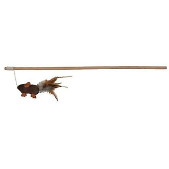 Trixie Cat toy, mouse on stick (Cats , Toys , Teaser Wands)