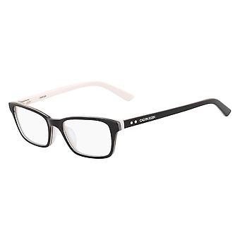 كالفن كلاين CK18541 002 نظارات سوداء وبيضاء