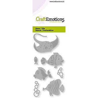 CraftEmotions يموت - بطاقة الأسماك الاستوائية 5x10cm