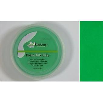 CraftEmotions Silk foam clay - green 28gr Air dry