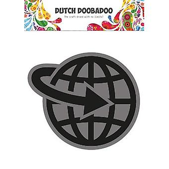 Dutch Doobadoo Foam stamps Airplane World 494.902.004 50x57,6mm