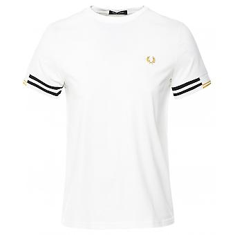 Fred Perry Abstract Cuff T-Shirt M8529 129