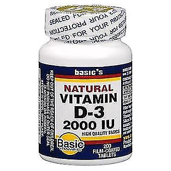 Basic vitamins vitamin d3, 2000 iu, film-coated tablets, 200 ea