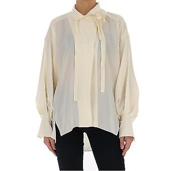 Chloé Chc20uht16307117 Women's White Silk Shirt