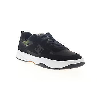 DC Penza SE  Mens Black Suede Lace Up Athletic Skate Shoes