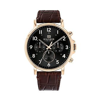 Tommy Hilfiger Watches 1710379 Brown Leather Men's Chronograph Watch