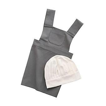 Sebra - apron and hat - grey