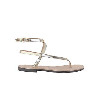 P.a.r.o.s.h. D070145053 Women's Gold Leather Sandals
