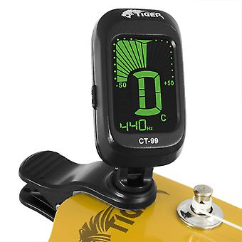 Tiger Chromatic Tuner - Clip-On Tuner - Guitar, Ukulele & Violin