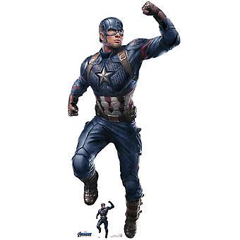 Captain America fra Marvel Avengers: Endgame Offisiell Lifesize Cardboard Cutout / Standee