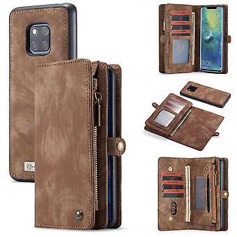 CaseMe Vintage Wallet Case Hoesje Huawei Mate 20 Pro - Bruin